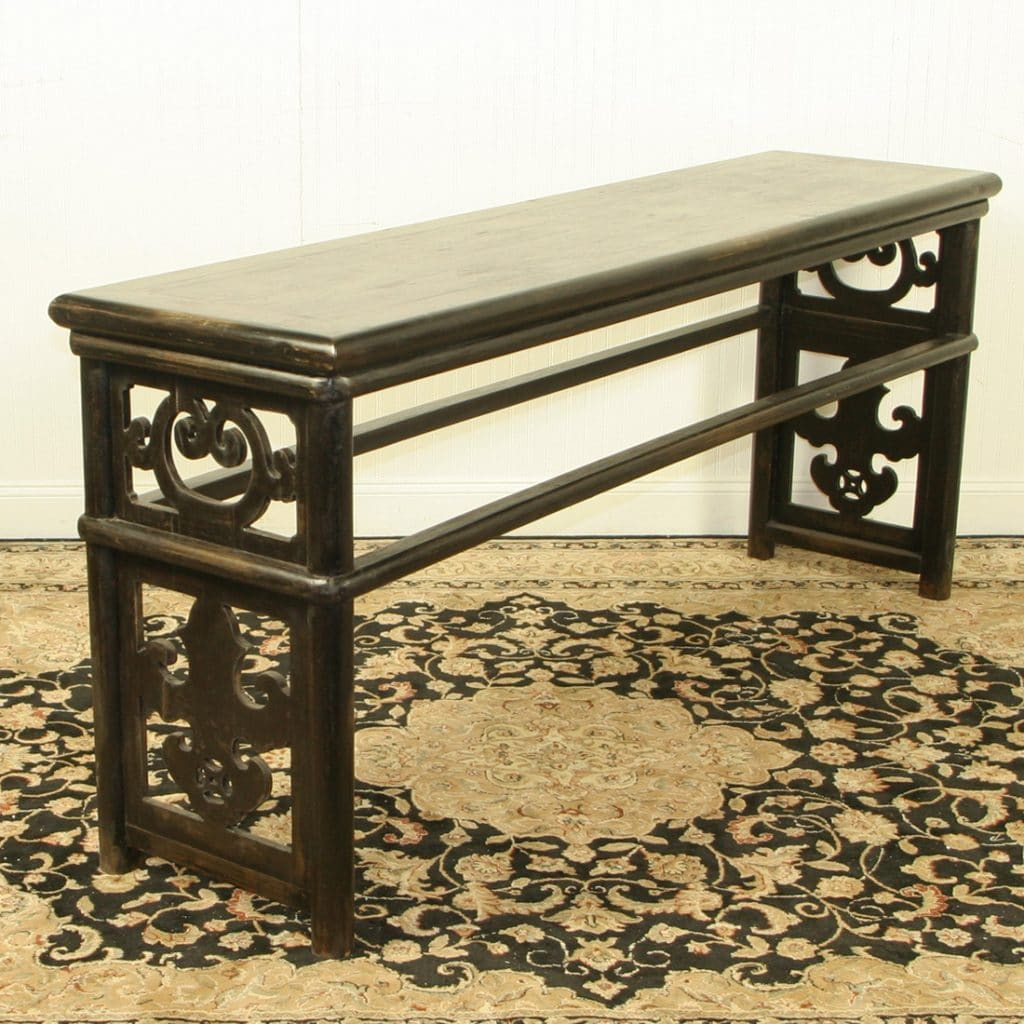 Black Hall Table chinese 79 inch long black lacquer sofa table
