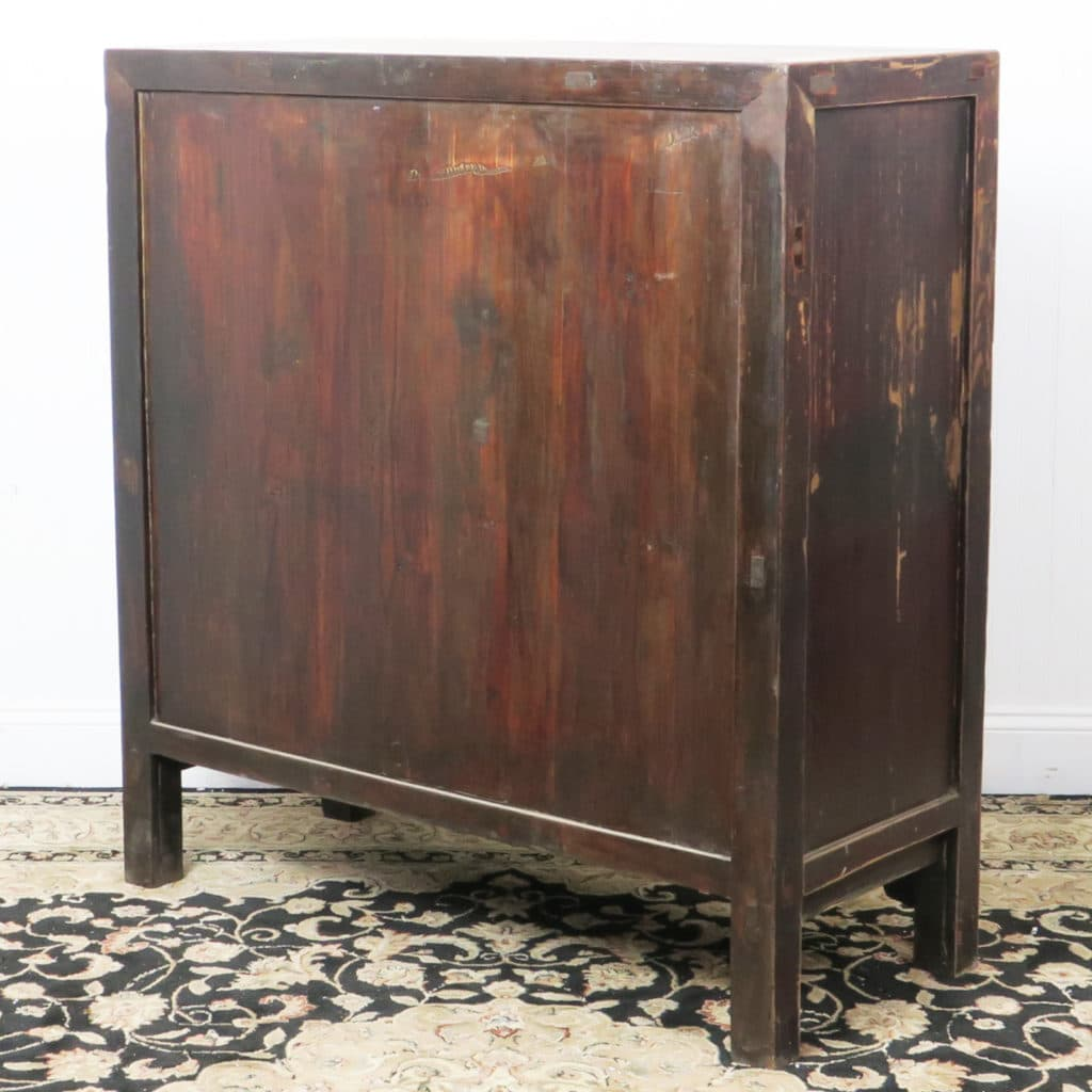Antique Bed: 41 Inch Wide Antique Chinese 2 Door Brown Cabinet