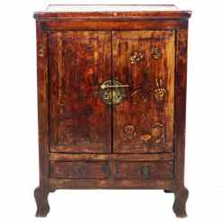 Antique Chinese 2 Door Gansu cabinet 32 Wide 42 Tall