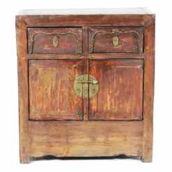 30 inch Wide Antique Chinese 2 Door Cabinet Vanity