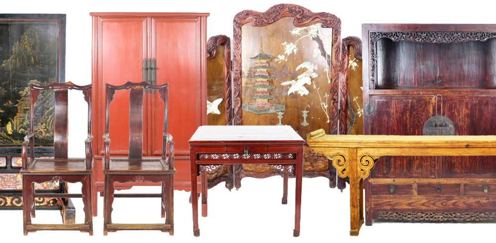 Antique chinese furniture cabinets tables accessories for Reproduction oriental furniture