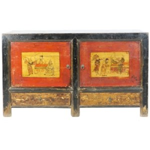 Antique Mongolian Sideboard Buffet Storage Cabinets