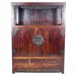 Antique Asian Apothecary and Display Cabinets