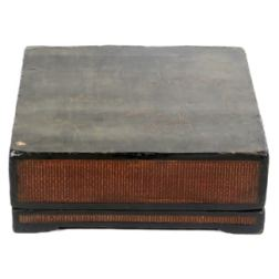 Antique Chinese Black Lacquer Document Box