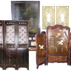 Antique Asian Doors and Decorative Wall Screens