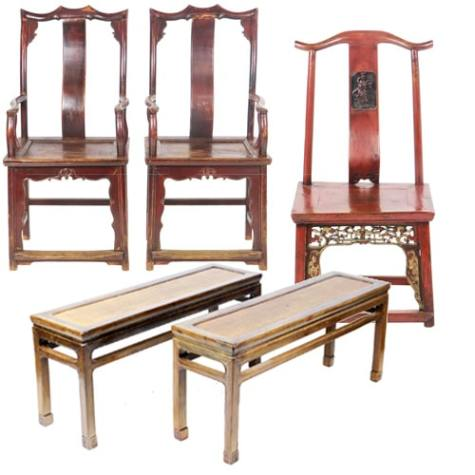 Antique Chinese Chairs, Benches, and Stools - Antique Chinese Furniture Cabinets Tables Accessories