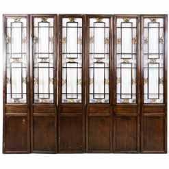 6 Vintage Chinese Doors w Carved Openings