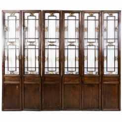 6 Vintage Chinese Doors w Carved Openings