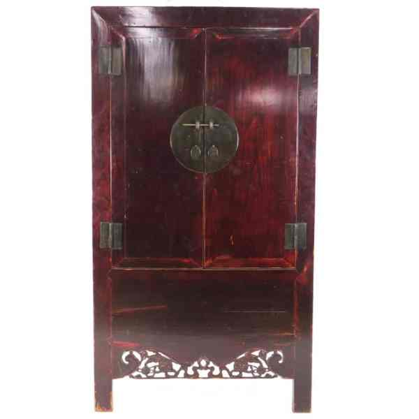 Antique Chinese Elm Wardrobe Cabinet