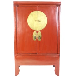 Chinese Red Wedding Armoire Cabinet