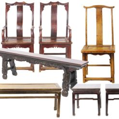 Antique Chinese Chairs, Benches, and Stools