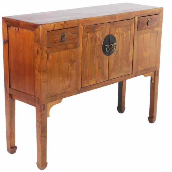 """Antique Chinese Huntboard Sideboard Cabinet 49"""" Long"""