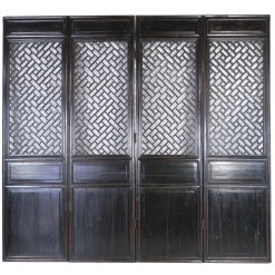 4 Antique Chinese Doors Room Divider