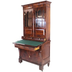 Antique Federal Mahogany Secretary Bookcase