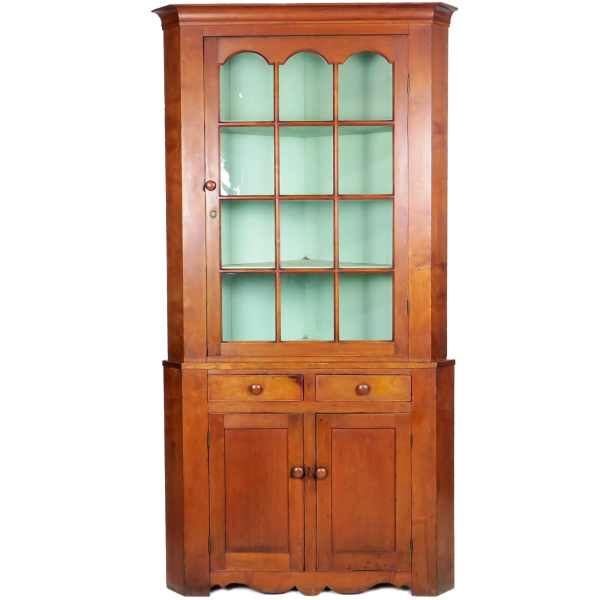 1800s Cherry Corner Cupboard