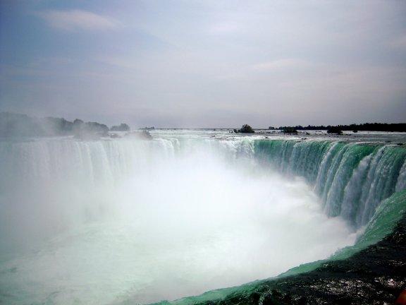 由加拿大側看瀑布