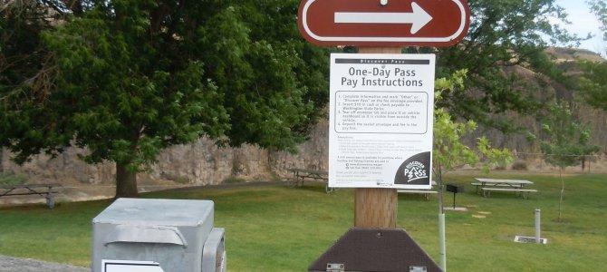 華盛頓州立公園的自助收費站 Day Use Fee
