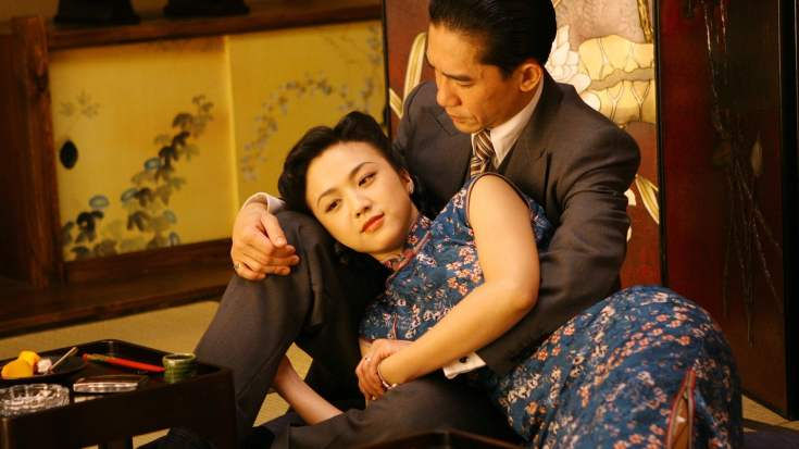 Tang Wei and Tony Leung in Lust, Caution
