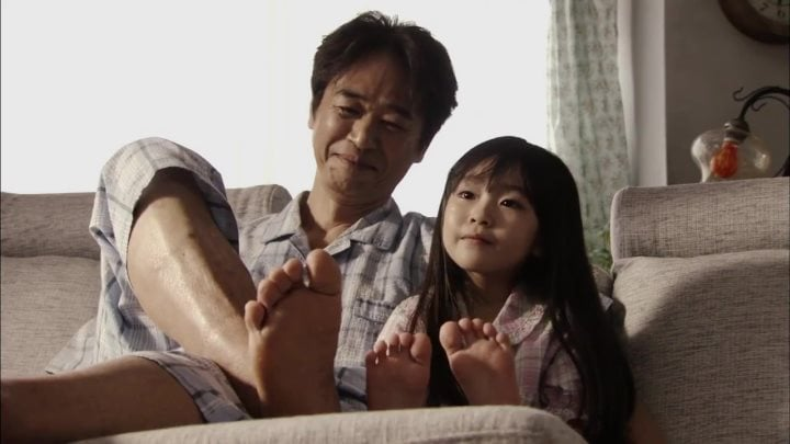 Young Kahoko with her dad - Kahogo no Kahoko