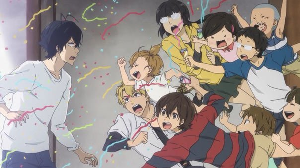 Handa and the younglings - Barakamon