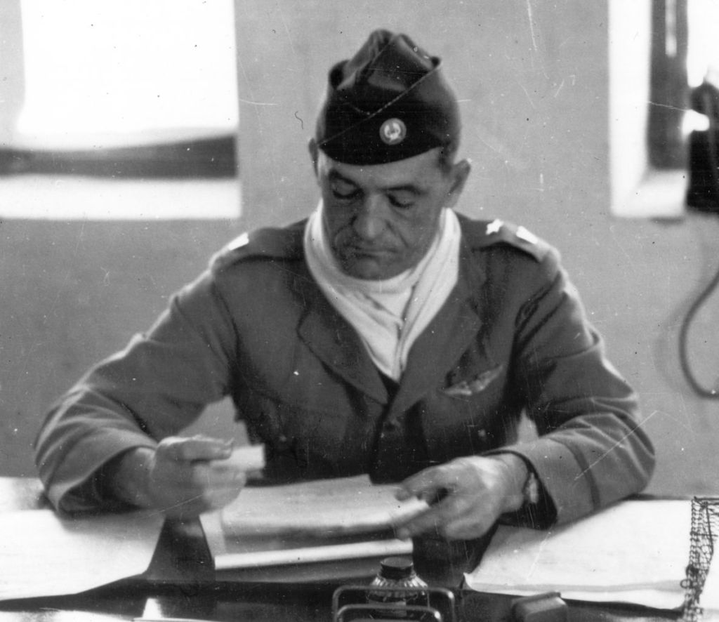 Claire Chennault in his office at Kunming, China, about May 1942 (via Wikipedia)