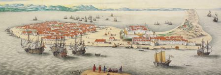 From a 17th century watercolor drawing of the Dutch East India Company's Fort Zeelandia (WikiMedia Commons)