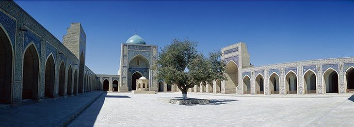Courtyard of the Kalyan Mosque, Bukhara, completed in 1514