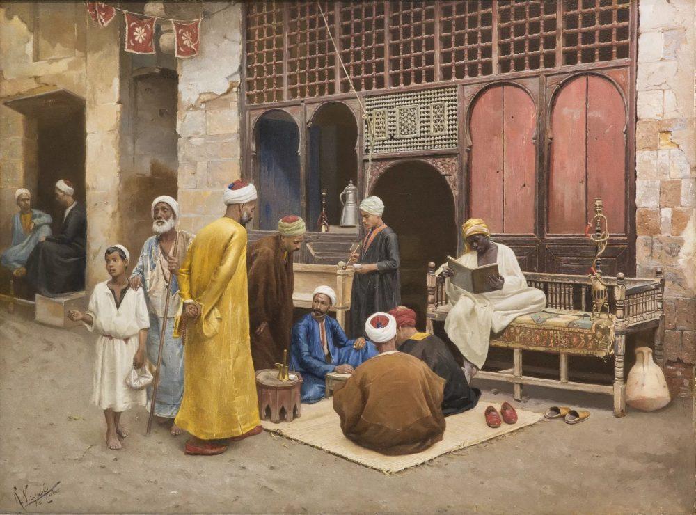 The Dice Players. Rudolf Weisse (1869–c. 1930) (Photo: Islamic Arts Museum Malaysia)