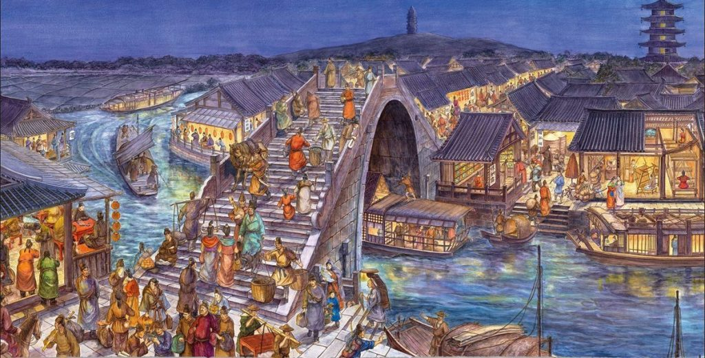 Night Fair, Maple Bridge, Suzhou, 760CE