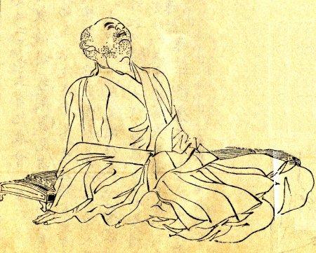 Kamo no Chōmei by Kikuchi Yōsai