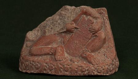 Child learning Brahmi Alphabets, terracotta 3rd century BCE (National Museum, New Delhi)