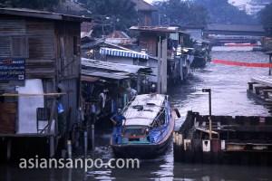 タイ バンコク・クルア村・運河