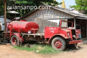 ミャンマー マグェ管区の消防車