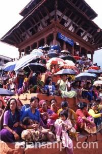ネパール カトマンズのダルバール広場