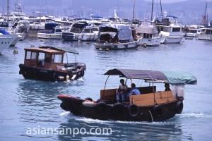 香港 銅鑼湾の船