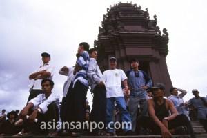 カンボジア プノンペン・デモ