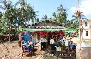 ミャンマー ボーピン クリスマス会