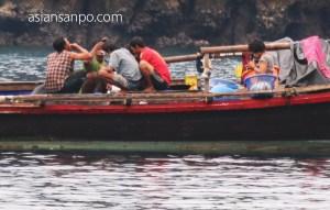 ミャンマー メルギー諸島 HorseShoe島 漁船