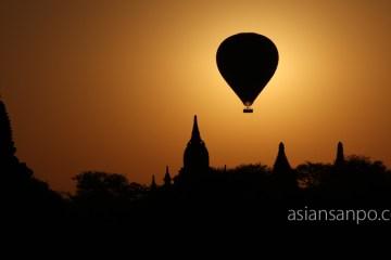 ミャンマー バガン 熱気球