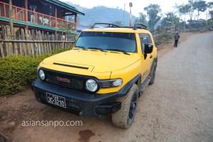 ミャンマー ラヘー ナガ族 車