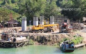 ミャンマー アンーミャウー 橋
