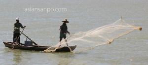 ミャンマー パテイン 投網