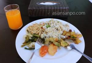 ミャンマー グエサウン ビーチ 朝食