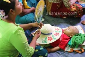 ミャンマー マンダレーーシュエボー 得度式