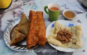 ミャンマー ガンゴー 朝食
