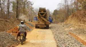 ミャンマー シュエボーーカレイワ 山道