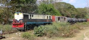 ミャンマー シュエボー-カタ 列車