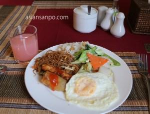 ミャンマー モンユワ 朝食