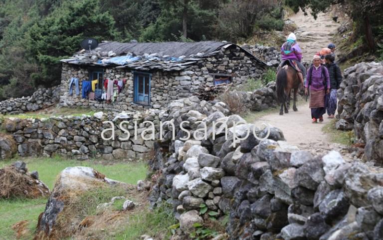 ネパール エベレスト街道 ターメ