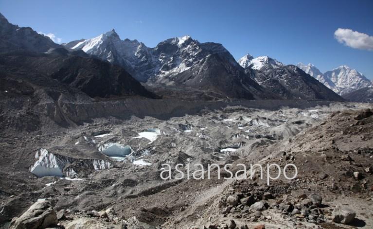 ネパール エベレスト街道 クーンブ氷河